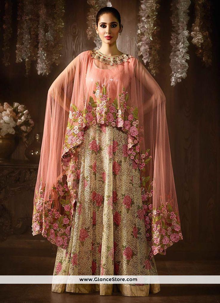 Spellbinding Jacquard Floor Length Anarkali Suit