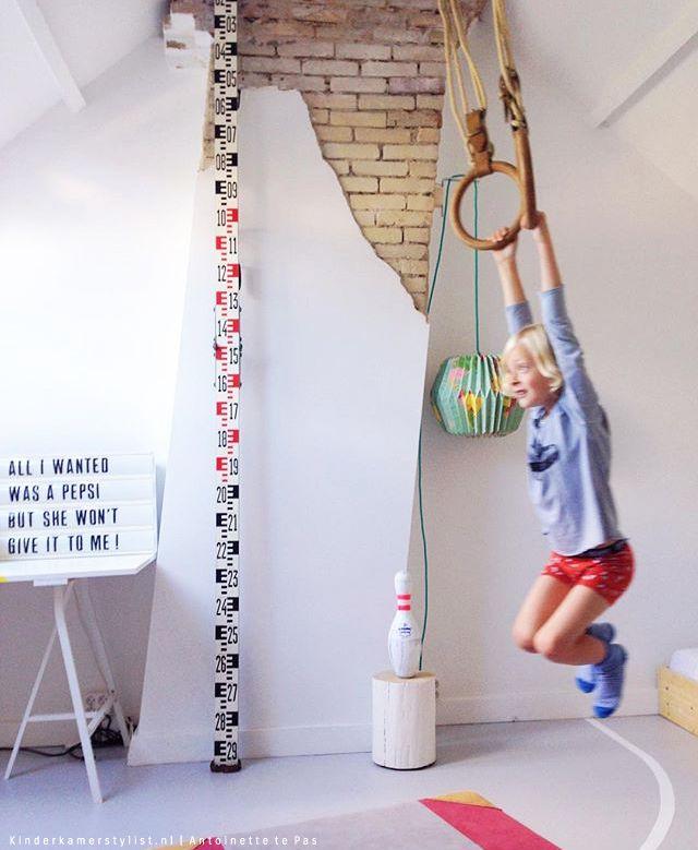 Maak van de zolder een gymzaal #speelkamer | Kinderkamerstylist.nl