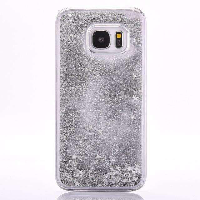 Luxury Sparkle Bling Glitter Stars Flowing Liquid Cover For Samsung Galaxy S4/S5/S6/S6 S8 Edge Plus/S7/Note 5 Phone Cases