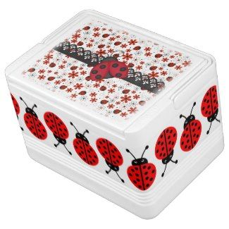 Charming Ladybugs Igloo Ice Chest