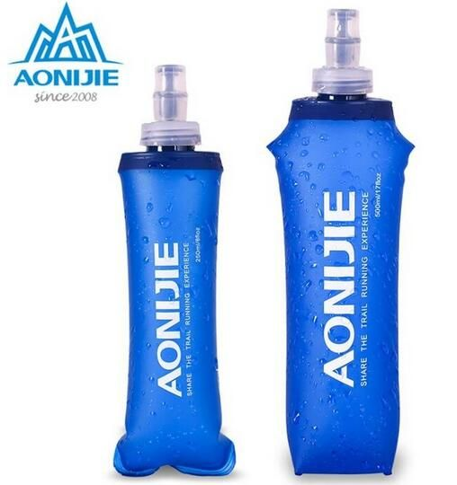 AONIJIE Foldable Silicone Water Bottle Kettle Travel Sport Camping Hiking Walking Running Cross-Country Running Water Kettle