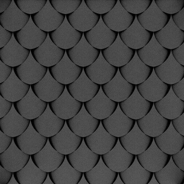 Fluffo, Fabryka Miękkich Ścian. Miękkie panele ścienne 3D, wzór SHELL, opcje ułożenia.