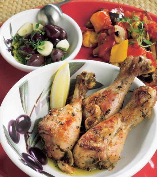 Grillatut broilerin koivet - BBQ Chicken