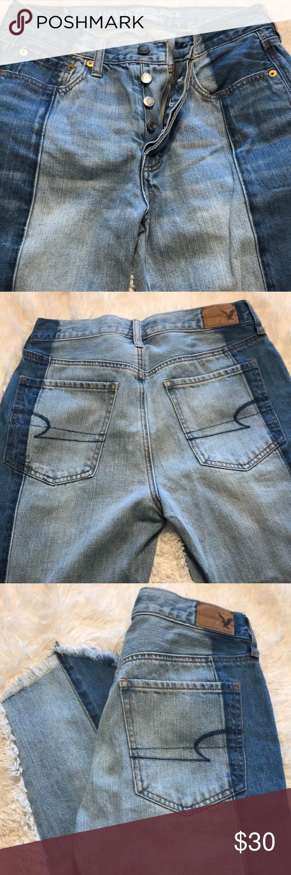 EUC jeans EUC American Eagle Outfitters button fly frayed hem jeans  Location uc3 American Eagle Outfitters Jeans