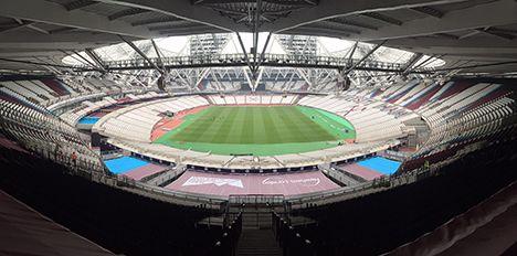 Spring solution inside West Ham's new arena.