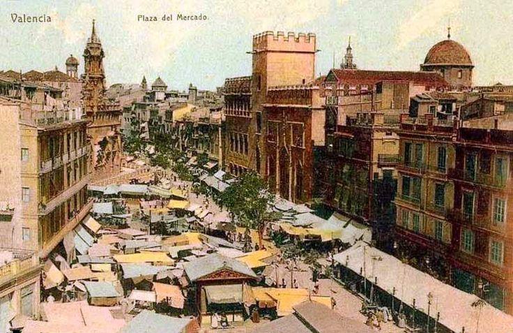 POSTALES DE VALENCIA: PLAZA DEL MERCADO