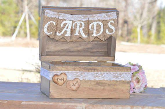 You can also create a chic country card holder.