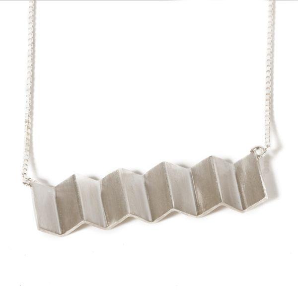 Vitsø Zigzaghalskæde – Sølvhalskæde - Tinga Tango Designbutik. #smykker #vitsø #sølv#halskæde