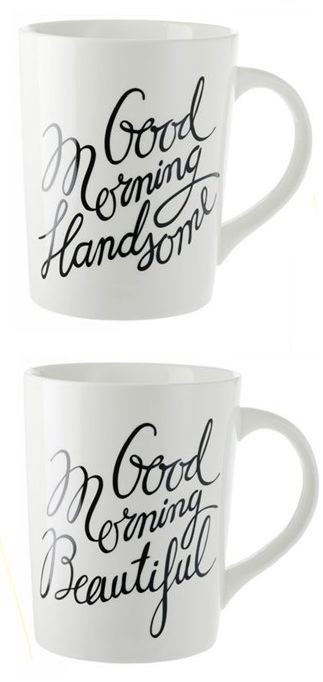 Good Morning Mugs from Indigo - one of my favourite engagement gifts we received <3