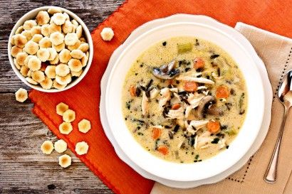 Creamy Turkey (or Chicken!) and Wild Rice Soup: Thanksgiving Turkey, Chicken Soups, Thanksgiving Leftover, Favorite Recipe, Wild Rice Soups, Soups Recipe, Creamy Turkey, Leftover Recipe, Creamy Chicken
