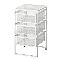 LENNART Drawer unit, white - white - IKEA. Here is a cheap option for makeup organization. You could even cut the legs off and fit it into a cabinet