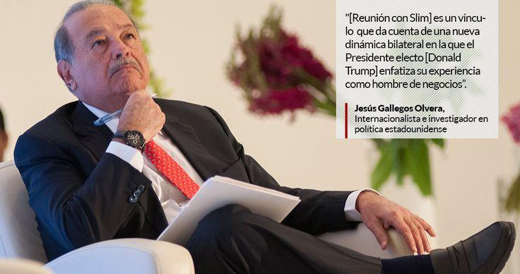 El Presidente electo de Estados Unidos, Donald Trump, se sentó primero a cenar con Carlos Slim que con el Presidente Enrique Peña Nieto.