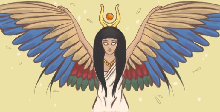 Isis - Goddess of Magic, Mothering and Mystery. One of my initial Goddess drawings from wayyy back.