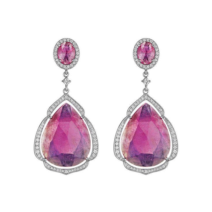 Double Drop Pink Sapphire Earring