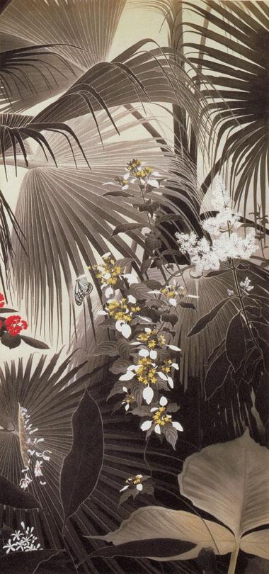 枇榔樹の森に浅葱斑蝶 Isson Tanaka