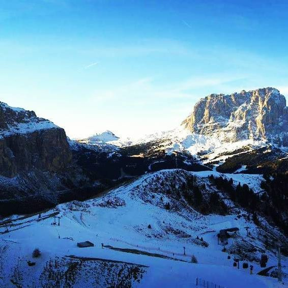 Skiing in the Dolomites!