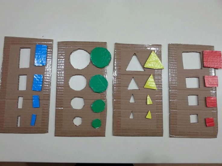 Geometrik şekiller renk öğretimi