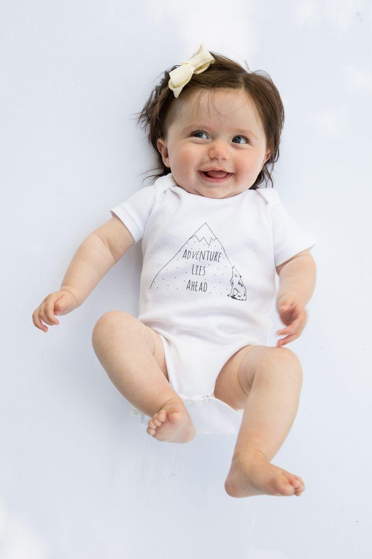 'Adventure Lies Ahead' Organic boho babygrow http://www.thislittle.boutique/#!shop/ccy