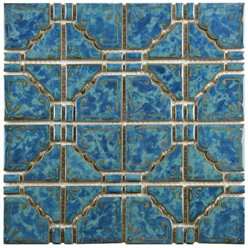 Show Details For Moonbeam Pacific Blue 11 3 4 X11 3 4 Porcelain Mos Porcelain Mosaic Mosaic Flooring Mosaic Tiles