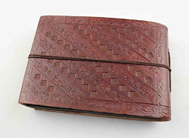 Fotoalben & Gästebücher - Fotobuch Fotoalbum Leder Foto Bilder klein 0100 - ein Designerstück von lederbuch24 bei DaWanda