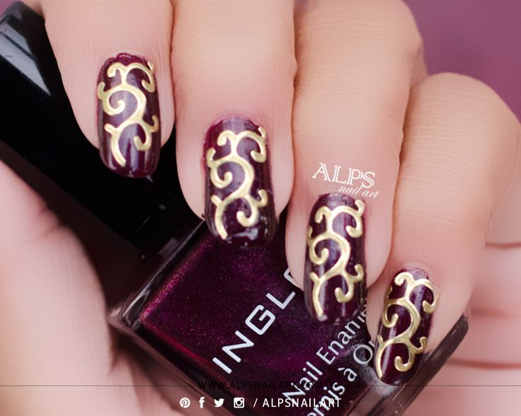 Diwali Nail Art / Indian Nail art Feat Inglot Nail Enamel 854 Swatches and BPS 3D Nail art Sticker by @alpsnailart #diwalinails #diwalinailart #indiannailart #inglot #alpsnailart #nailartsticker