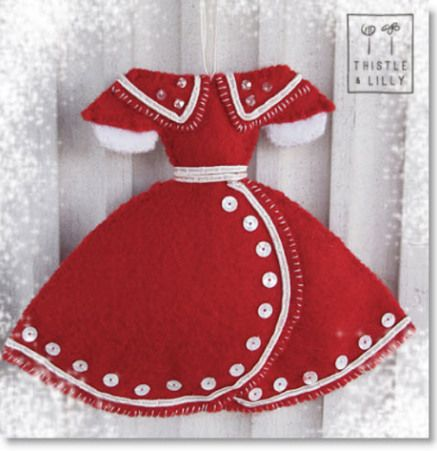 Christmas Felt Dress Ornament downloadable Pattern | Felting | CraftGossip.com