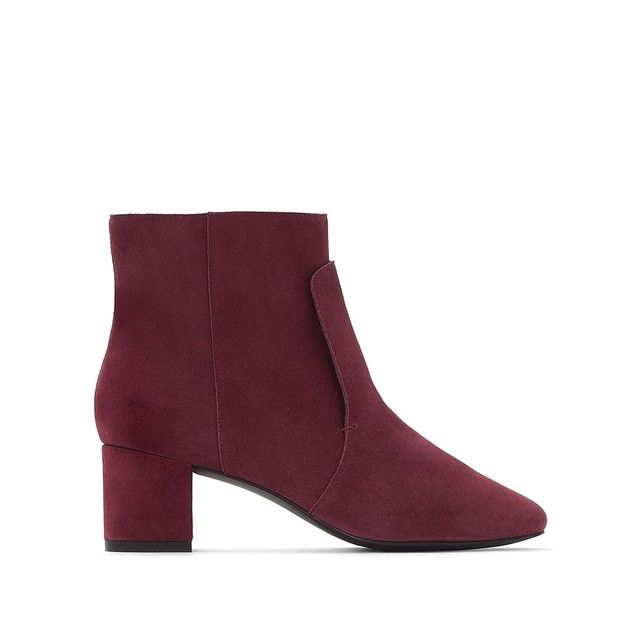 Boots cuir bout pointu La Redoute Collections