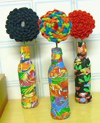 garrafas com chita para um efeito bem divertido