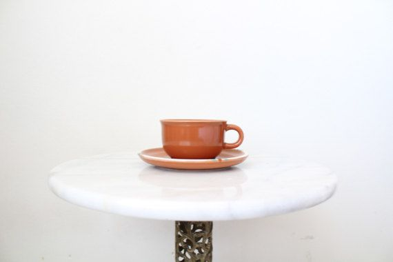 Loving the southwestern color combination of this tea set. In mint condition.  All of our listings are second-hand, so please know that there may be some natural wear and tear.  Plate: 6 1/4 diameter Cup: 4.5 in x 3 3/4 x 2 1/4      *Please DM me for International Shipping options