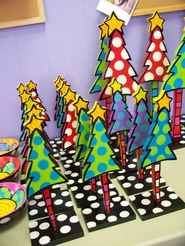 "whimsical christmas tree | These ""ladies in waiting"" stand over me at my desk, waiting for paint ..."