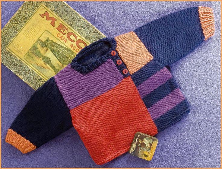 Patrón jersey de bebé de lanas katia 6/24 meses
