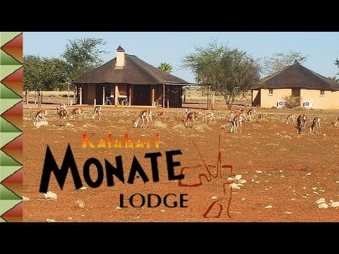 Kalahari Monate Lodge Situated en route to the Kgalagadi Transfrontier Park, 10 kilometers from Upington on the R360. Kalahari Monate Lodge offers guests a tranquil stay in natural Kalahari surroundings in either one of 40 camp or caravan sites, equipped with electricity, rustic braai facilities, and an open air swimming pool or in one of 6 thatched roof, self-catering, air conditioned chalets, fully equipped with a modern kitchen and bathroom.