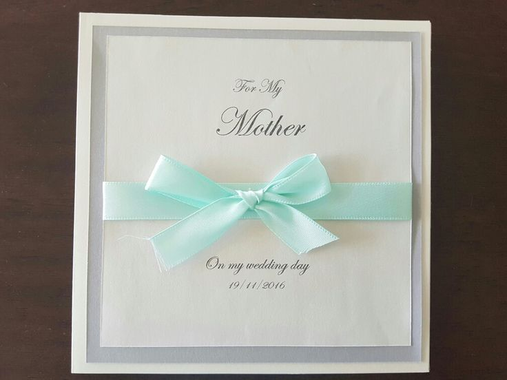 Handmade Wedding thank you cards for bridal party and family