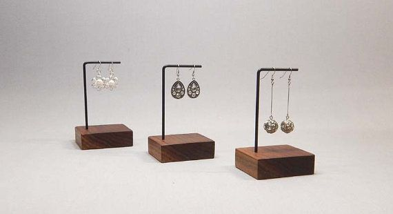 Earring Display  This earring display is perfect to display a special pair of earrings. It is simple, clean and really focuses on the