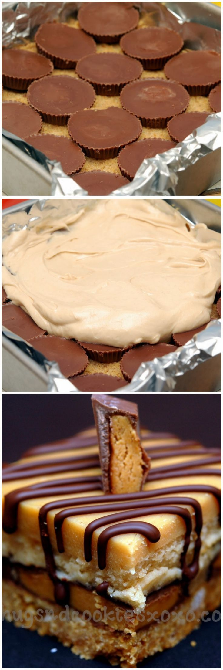 Celebrate National Peanut Butter day with peanut butter cup cheesecake bars!