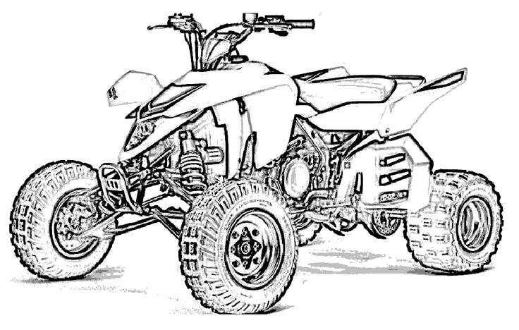 Motor Off Road Coloring Page