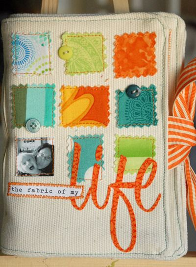 Baby clothes, fabric keepsake album, if only I had seen this idea when my kids were little...sigh