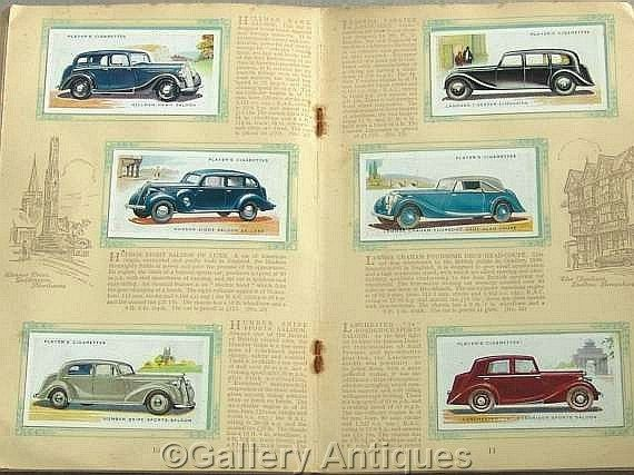 Vintage Motor Cars Second 2nd Series Full Set of 50 Cigarette Cards in Original Album by John Player & Sons Issued in 1937 #followvintage