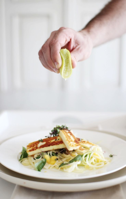 Basil & Mango Green Papaya Salad - perfect with panfried haloumi, fresh fish or chicken.