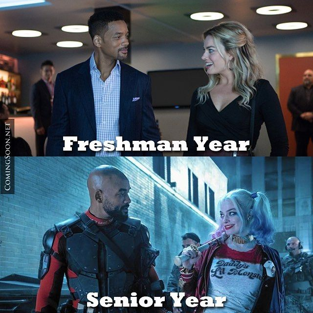 """A lot can change in 4 years."" Will Smith and Margot Robbie side by side in two diffrent movies."
