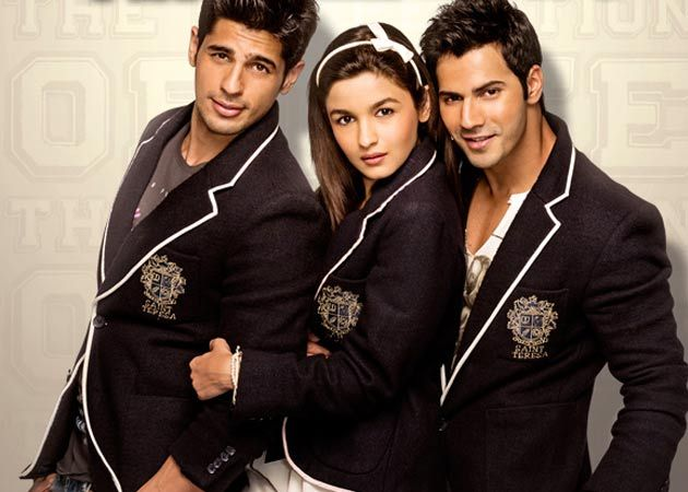 Varun, Alia and Siddharth Thanks to Karan Johar