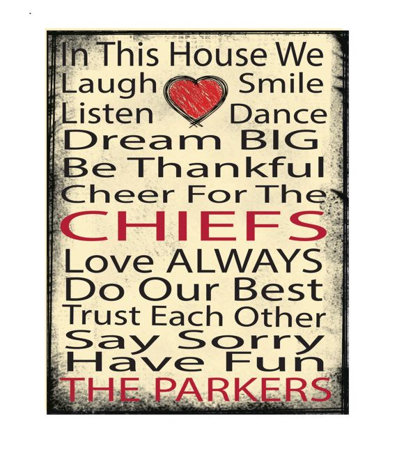 Kansas City Chiefs , AFC West, AFC, NFL, football,printed canvas,11x14 canvas,mounted canvas,ready to hang canvas, dorm art, in this house