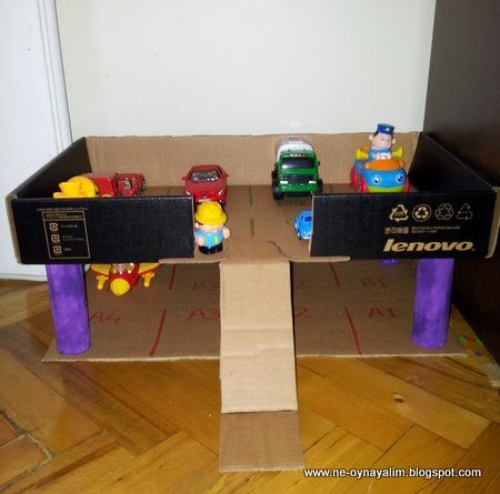 Toy Car Park, kids activity, toddler activity, Diy projects / Araba Garajı | Ne Oynayalım Anne?