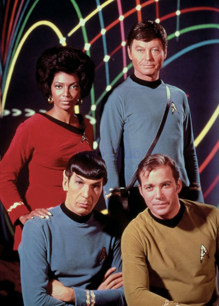 The basic foundation of a 60s/70s childhood, personified by the cast of Star Trek.