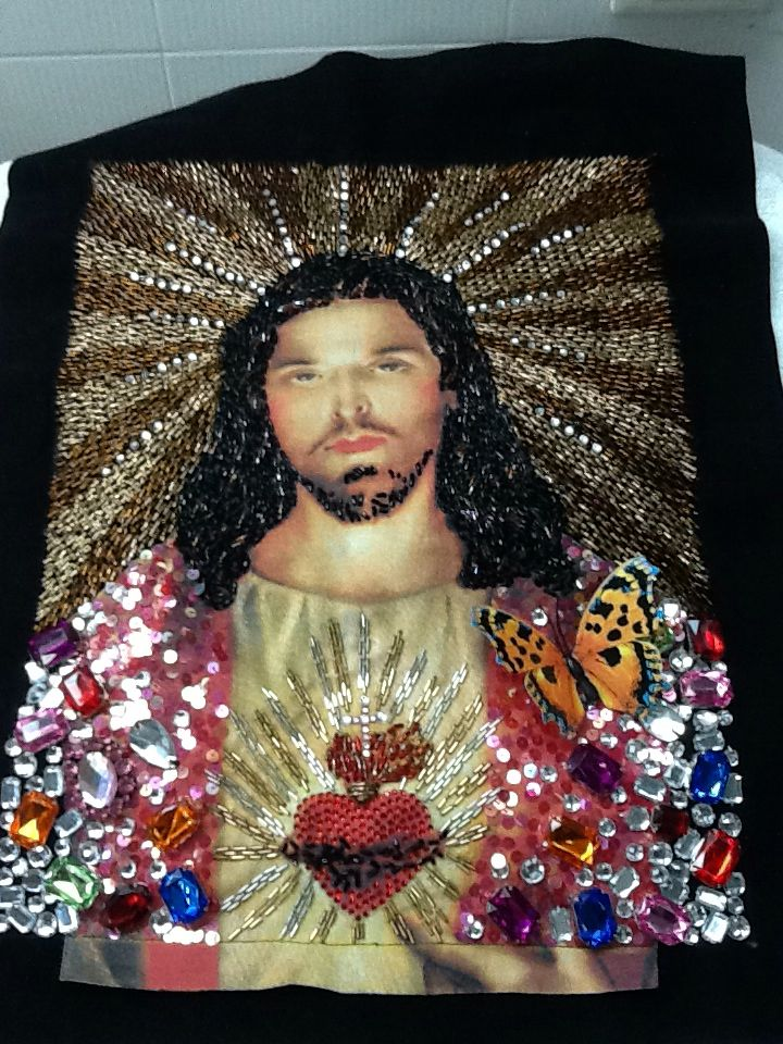 Jesus embroidery