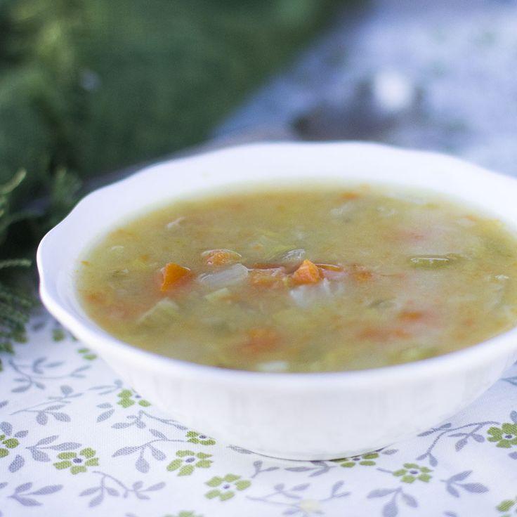 Sopa minestrone de invierno. Receta italiana Thermomix