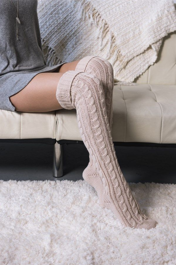 Experience warmth like you can't imagine in our Women's 100% Acrylic Over the Knee Boot Socks. This style has a ribbed cuff that can be worn all the way up or cuffed down over your leg or over your boot.