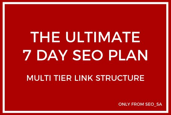 do 7 days ultimate multi tier pbn backlinks SEO package