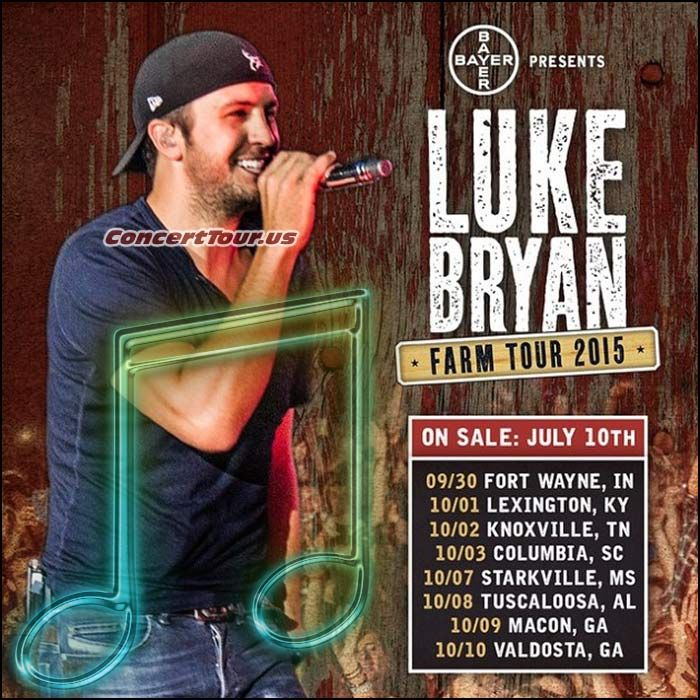 Luke Bryan's 2015 Farm Tour To Include Performances By Sam Hunt and Chris Janson
