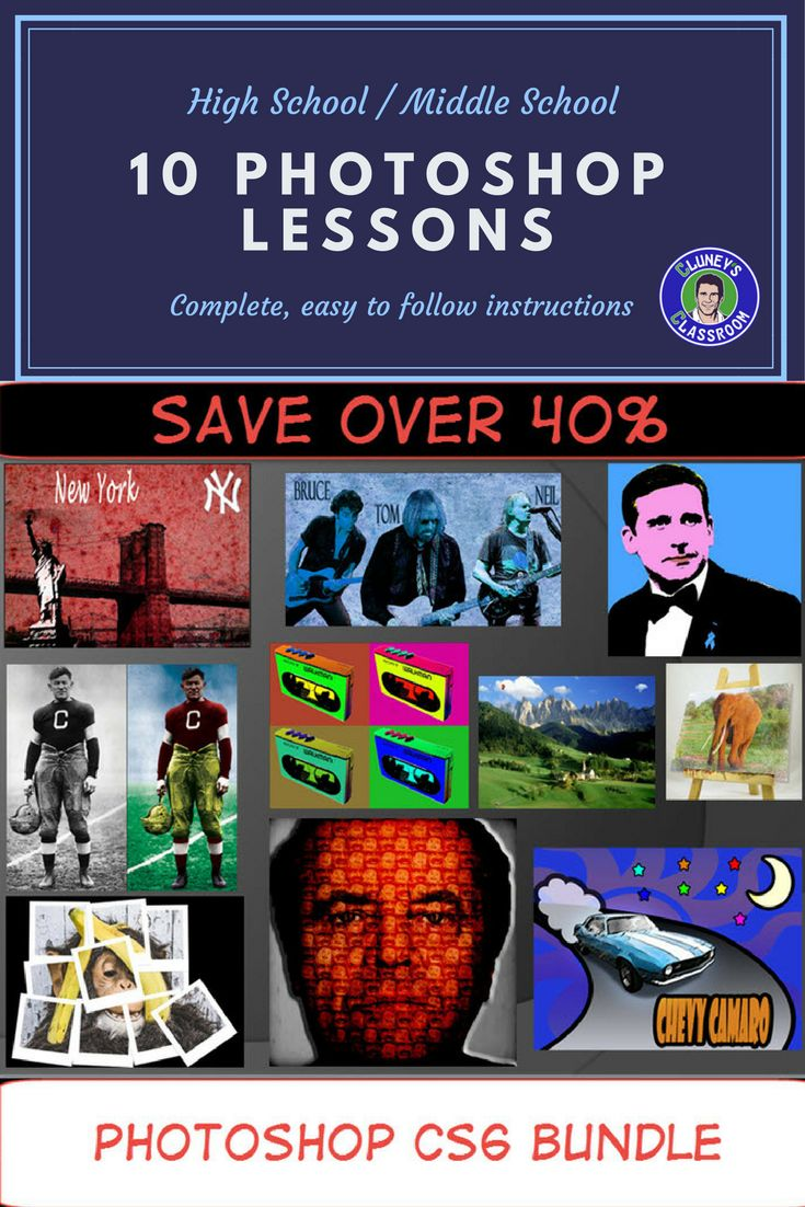 Poster design high school lesson - Photoshop Cs6 Bundle 10 Complete Lessons For Beginners